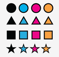 Double color symbols