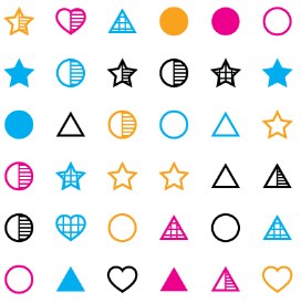 heart star glyphs